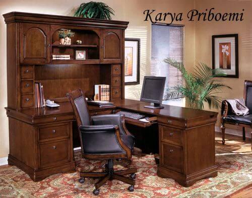 Set Meja Kantor Jati