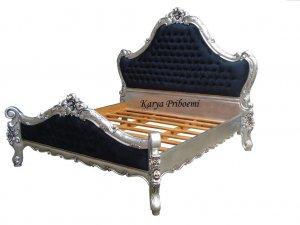 Tempat Tidur Racoco Mawar Antik Silver