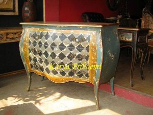Drawer Bombay Skak Antik