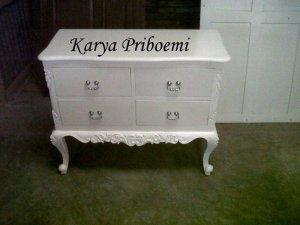 Drawer Ukir Laci Empat