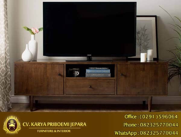 Bufet Tv Retro Minimalis Kayu Jati