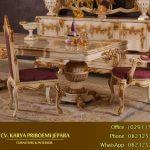 Jual Set Meja Makan Terbaru Ukiran Klasik Mewah Alexandra