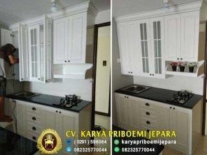 Pantry Dapur Apartemen Minimalis Putih