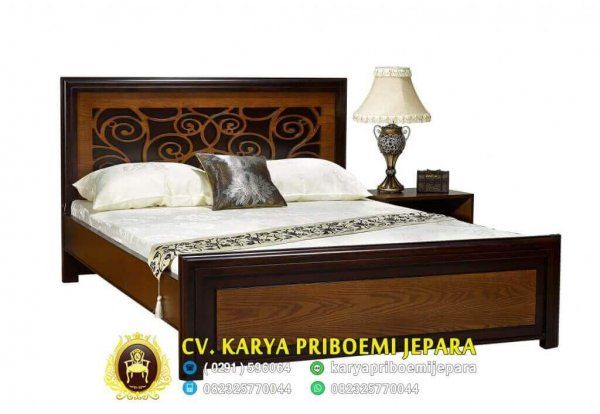 Tempat Tidur Jati Minimalis Vector