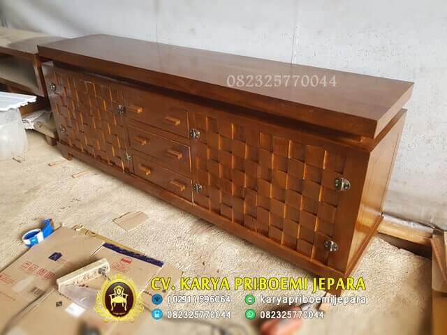 Bufet Anyaman Jati Terbaru