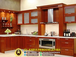 Kitchen Set Minimalis Modern Kayu Jati